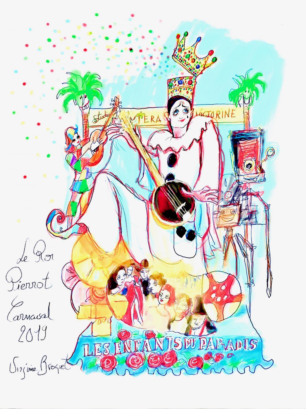 1 Roi du cinéma, Carnaval de Nice, 2019