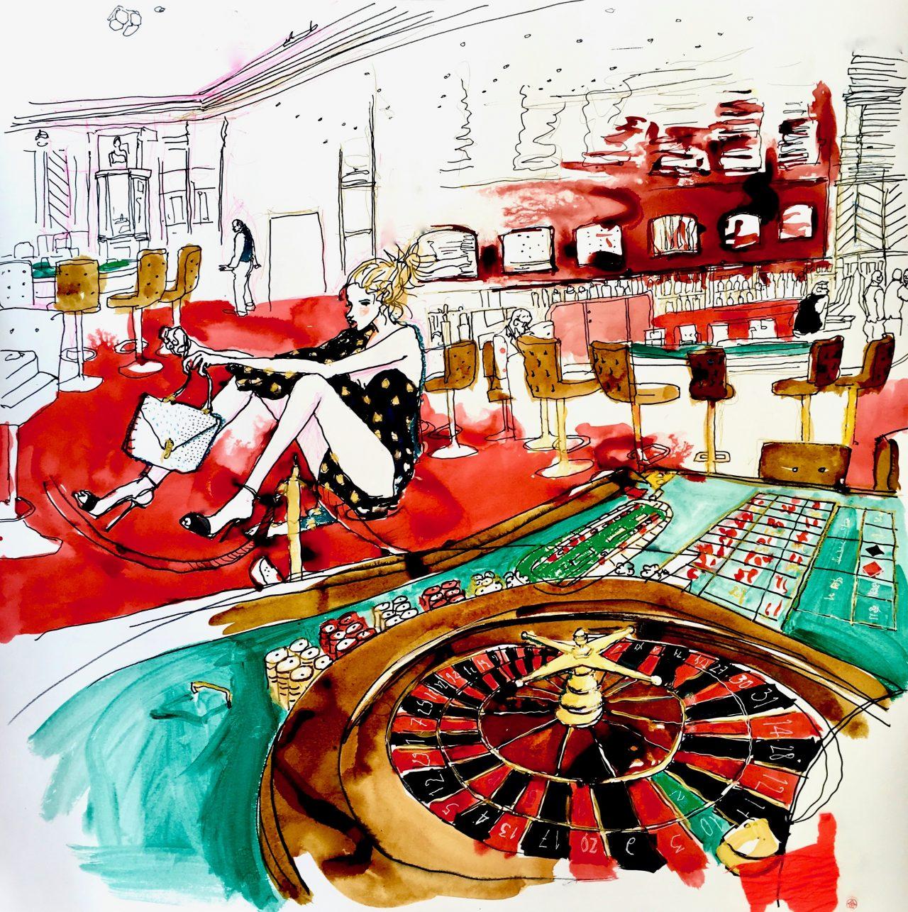 11 Casino roulette, pigments sur toile, 100_100 cm, 2018