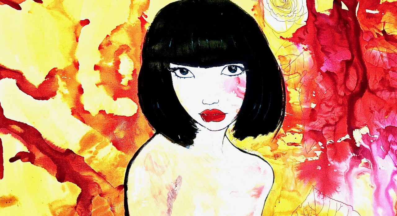 11 Suzy Wong, encre sur toile, 200x150cm, 2015