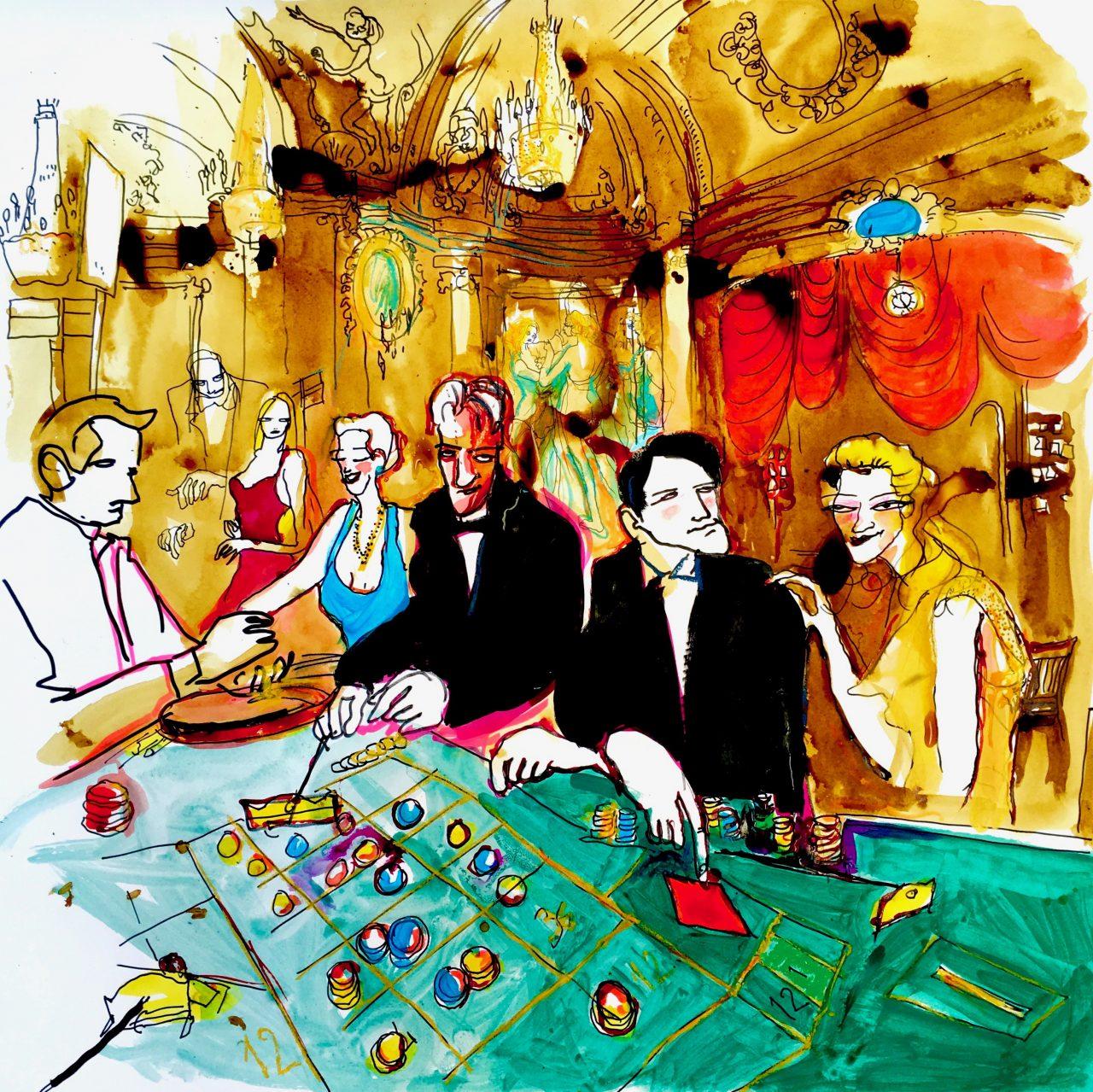 12 Casino, pigments sur toile, 100_100 cm, 2018