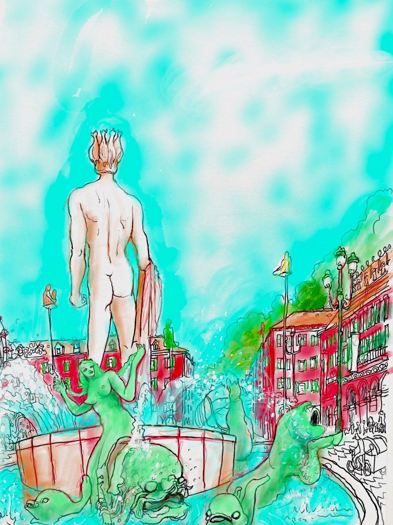 16 Fontaine Massena, Nice, iPad, 2020