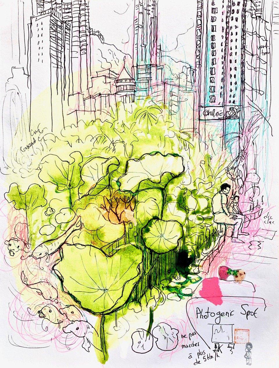 16 Hong Kong, encre sur papier, 2011