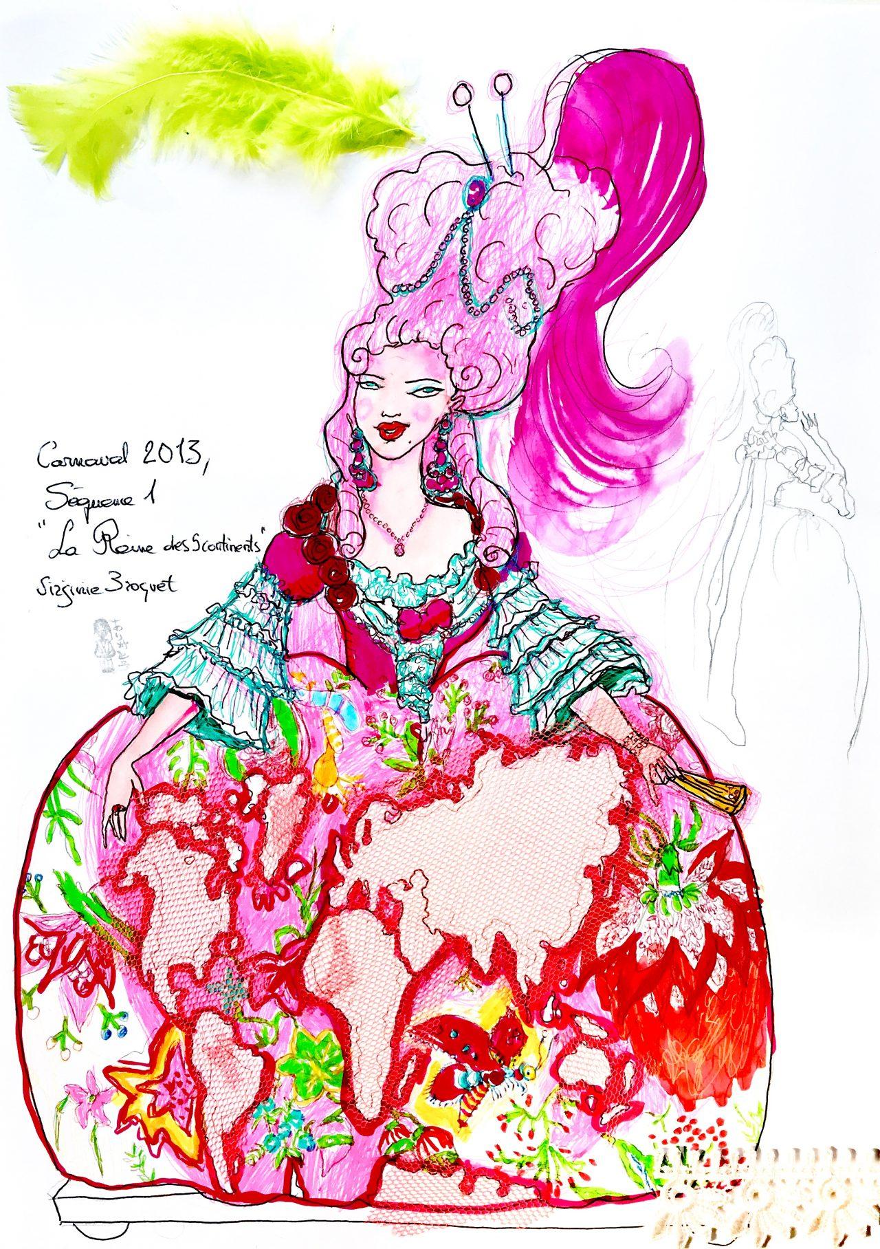 19 Carnaval de Nice, la reine des cinq continents, 2013