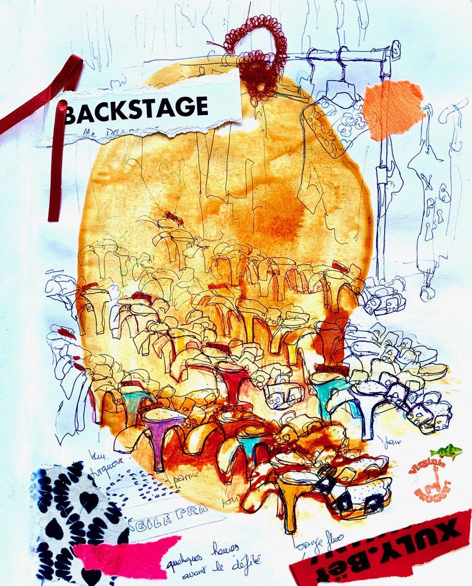 2 Backstage, défilé Xuly Bet, carrousel du Louvre, Paris, 2004
