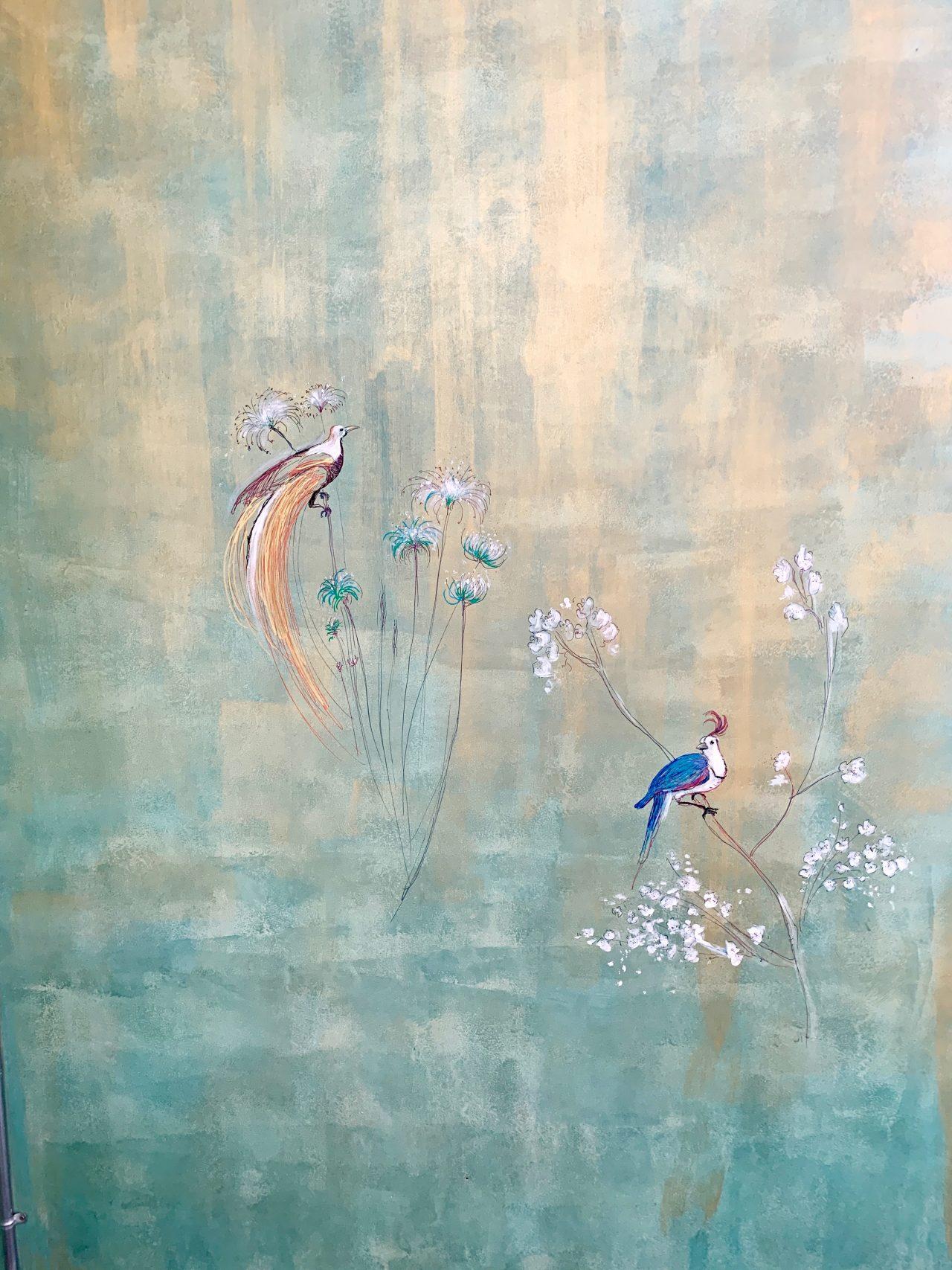 2 Détail oeuvre murale, maison privée, Thailande, 2018