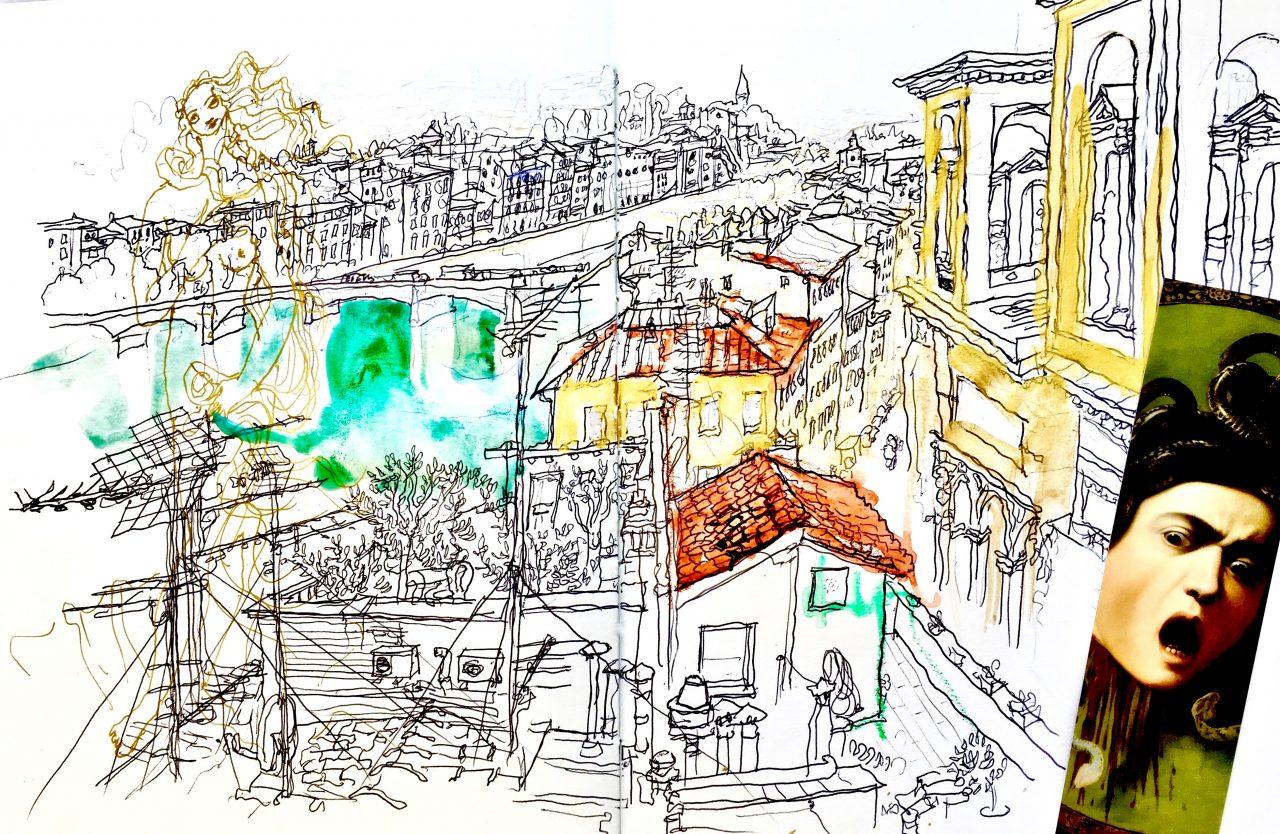 21, Florence, Italie, encre sur papier, 2017