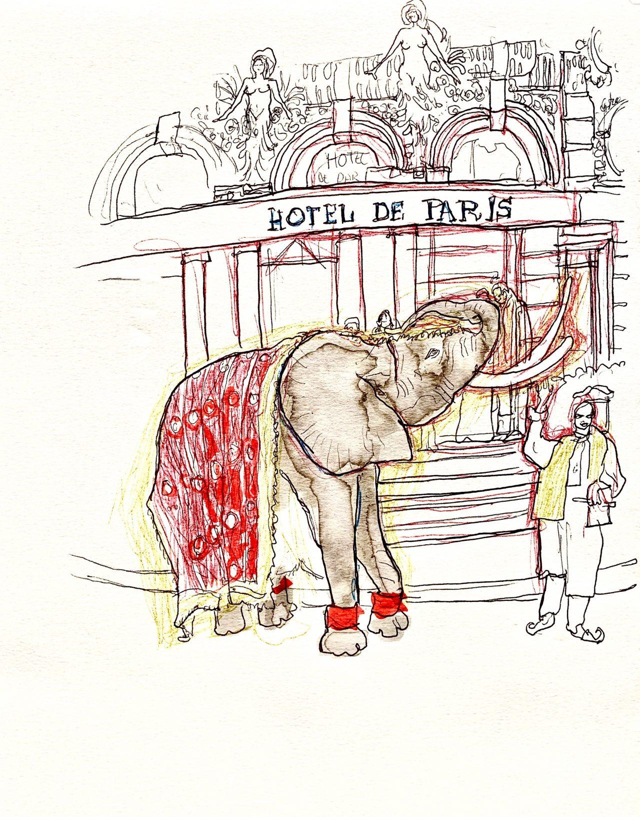 3 Monaco, mariage indien, encre sur papier, 24x31cm,2011