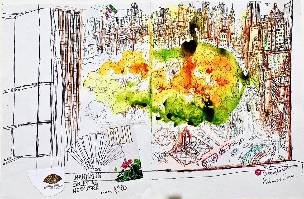 4 New York, Central park, encre sur papier 2012