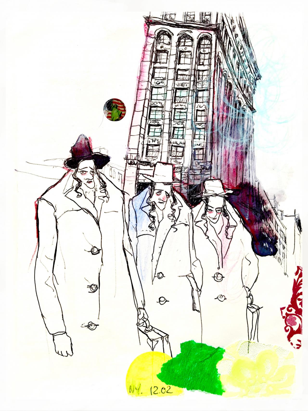 5 New York, encre sur papier 2005