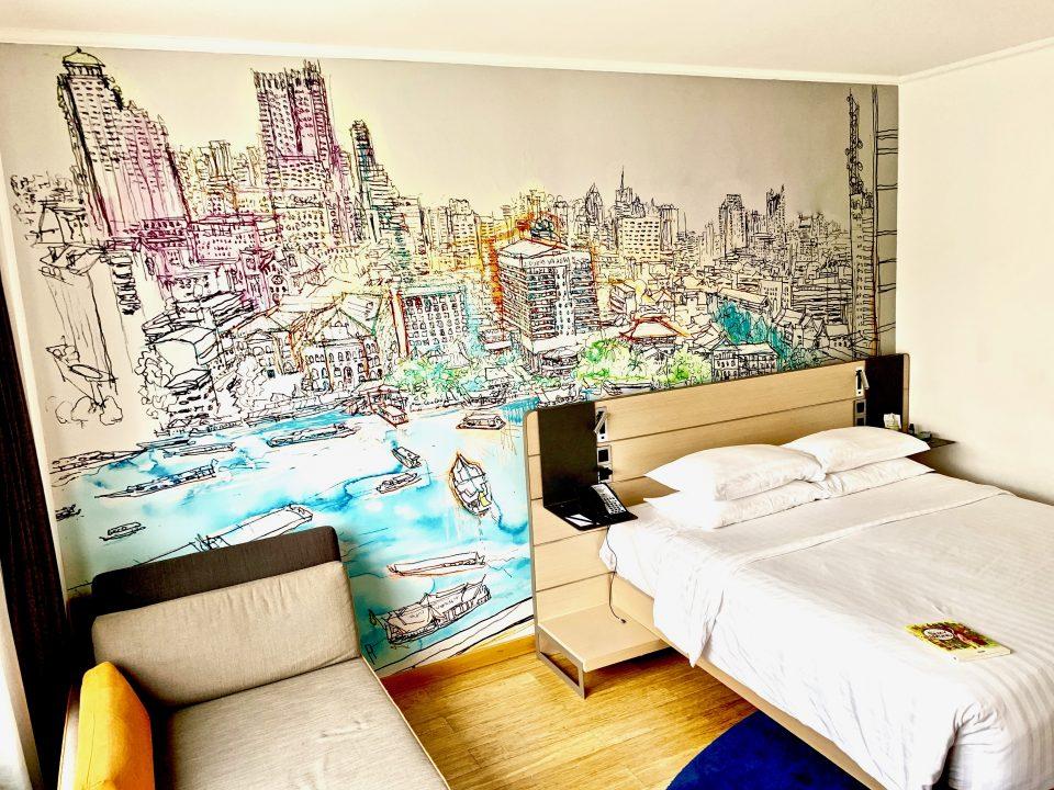 8 Tête de lit chambre hôtel Accor, Bangkok, 2017
